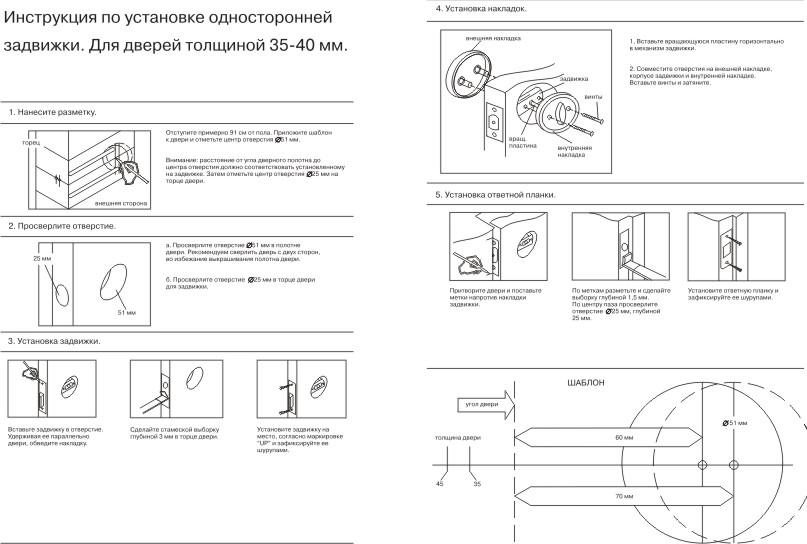 Шаблон для установки дверных ручек своими руками